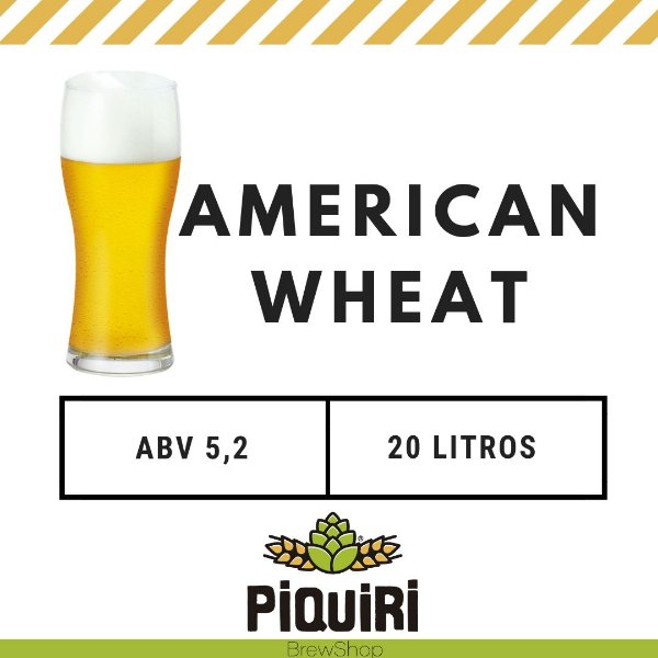 Kit receitas cerveja artesanal 20L American Wheat