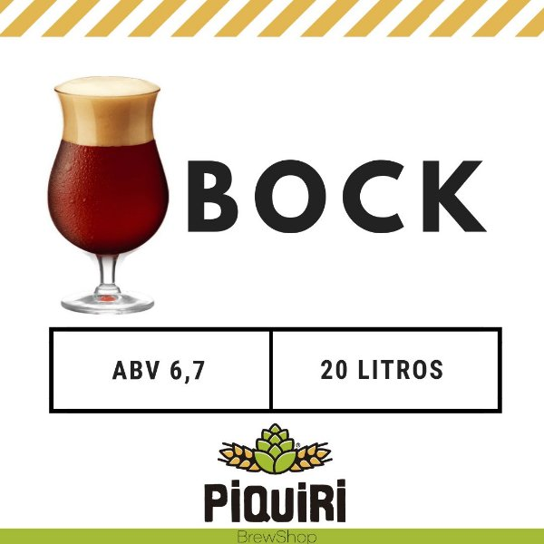 Kit receitas cerveja artesanal 20L Traditional Bock