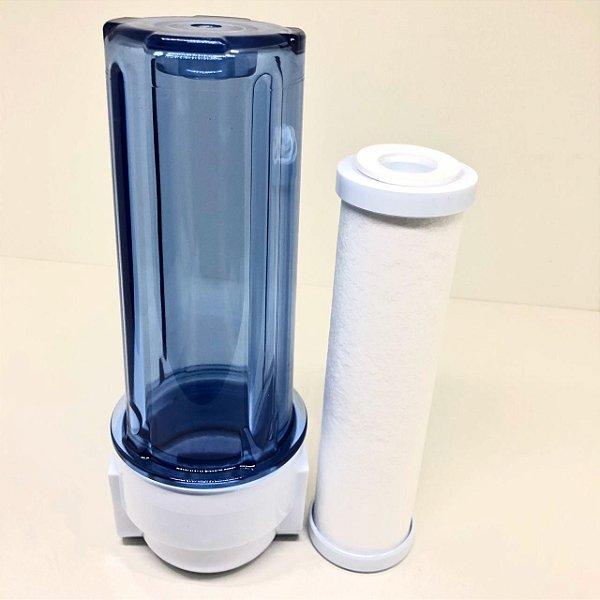 """Kit: Elemento Filtrante 9"""" Polipropileno  + Filtro de Água"""