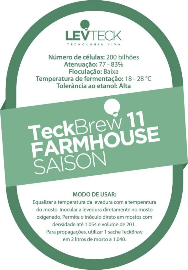 Fermento Líquido TeckBrew 11 Farmhouse Ale- Sachê