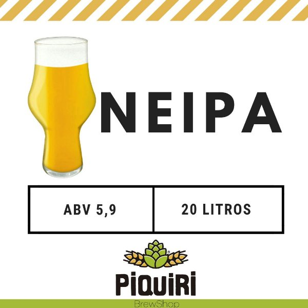 Kit receitas cerveja artesanal 20L New England IPA (NEIPA)