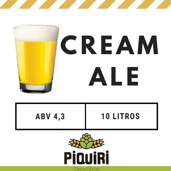 Kit receitas cerveja artesanal 10L Cream Ale