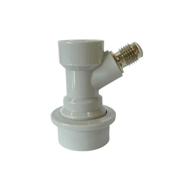 """Conector Ball Lock para Gás (ROSCA 7/16"""")"""