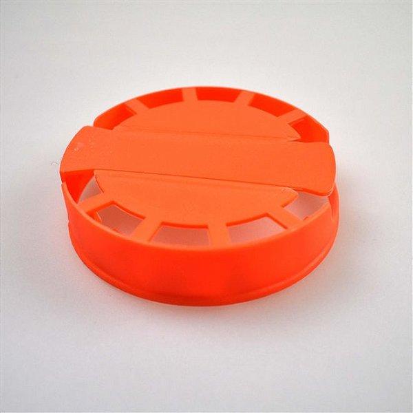 Lacre Plástico de Segurança para Barril Inox Tipo S - Laranja - 10 Und