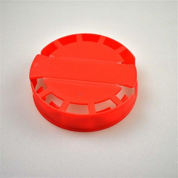 Lacre Plástico de Segurança para Barril Inox Tipo S - Vermelho - 10 Und