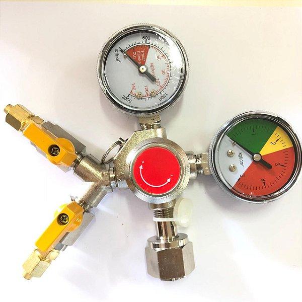 Regulador de Pressão para CO2- 2 vias (LATÃO)