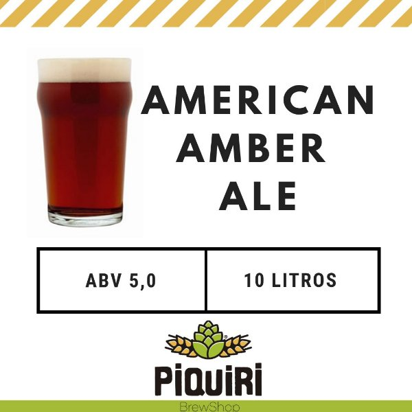 Kit receitas cerveja artesanal 10L American Amber Ale