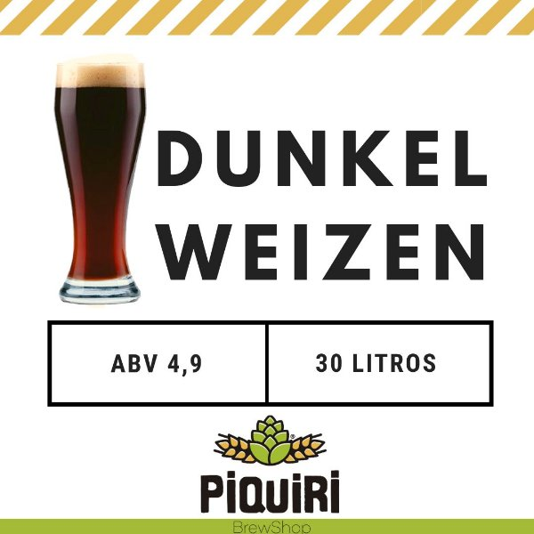 Kit receitas cerveja artesanal 30L Dunkelweizen