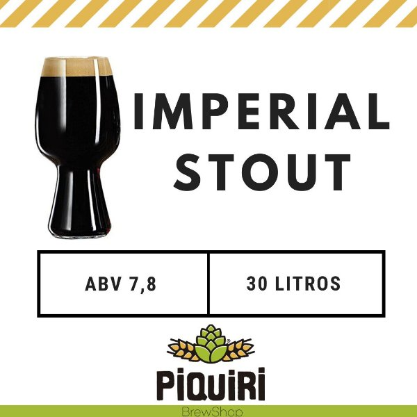 Kit receitas cerveja artesanal 30L Imperial Stout