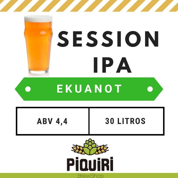 Kit receitas cerveja artesanal 30L Session IPA Ekuanot