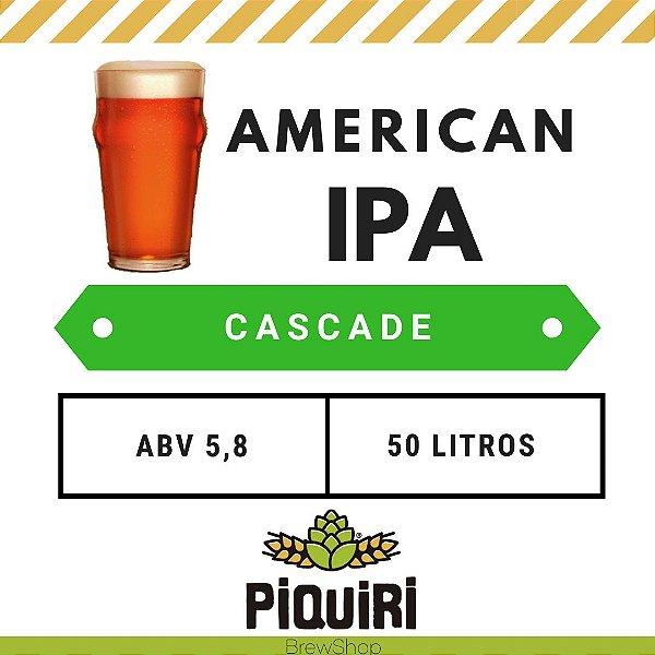 Kit receitas cerveja artesanal 50L American IPA Cascade