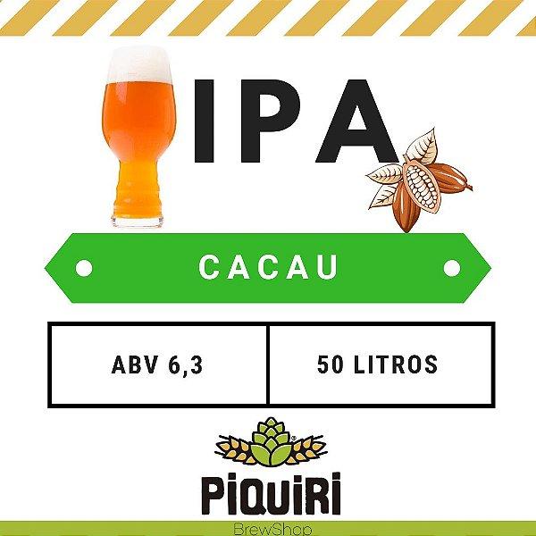 Kit receitas cerveja artesanal 50L IPA com Cacau