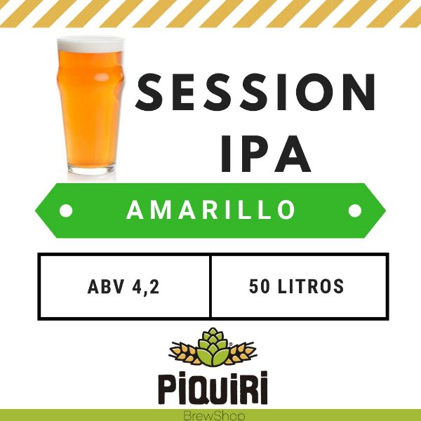 Kit receitas cerveja artesanal 50L Session IPA Amarillo