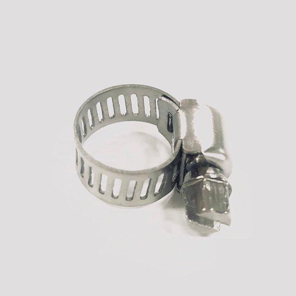 Abraçadeira rosca sem fim, em inox 8 - 12mm