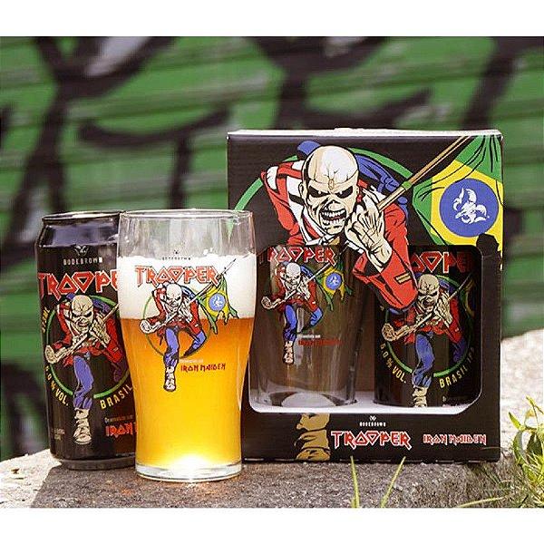 KIT TROOPER - Cerveja Bodebrown Trooper Brasil IPA - 473ml (lata) + Pint Eddie