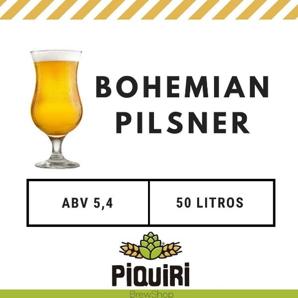 Kit receitas cerveja artesanal  50L Bohemian Pilsner