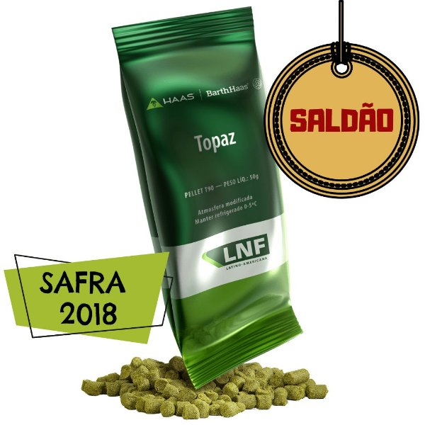 Lúpulo Barth Haas Topaz  2018 - 50g (pellets) - SALDÃO