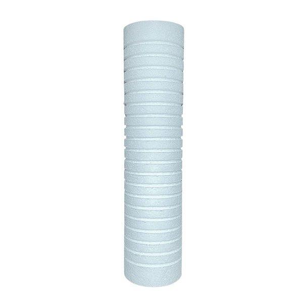 """Elemento Filtrante 9"""" Polipropileno Ranhurado - 15 micras (sem rosca)"""