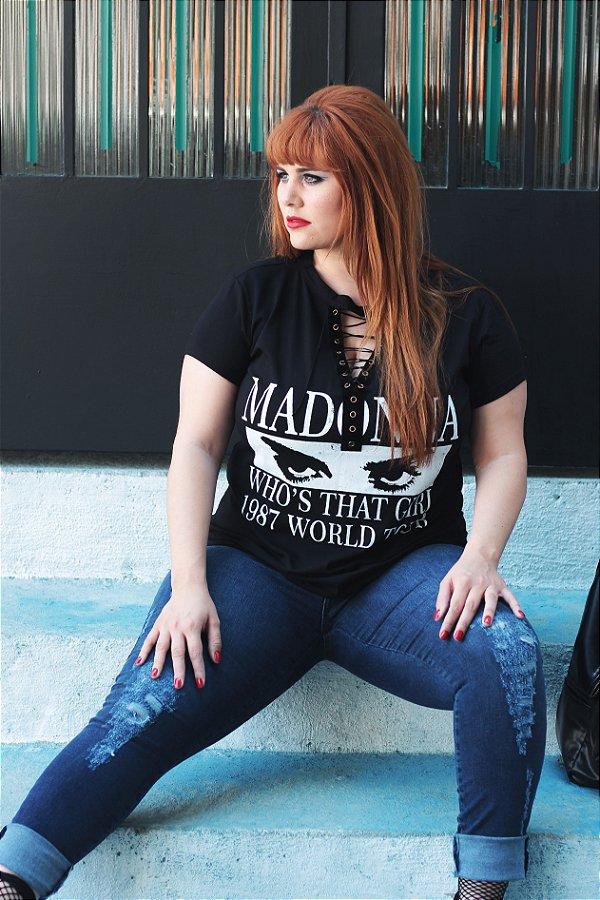 T-shirt Choker Madonna 1987 - Plus Size