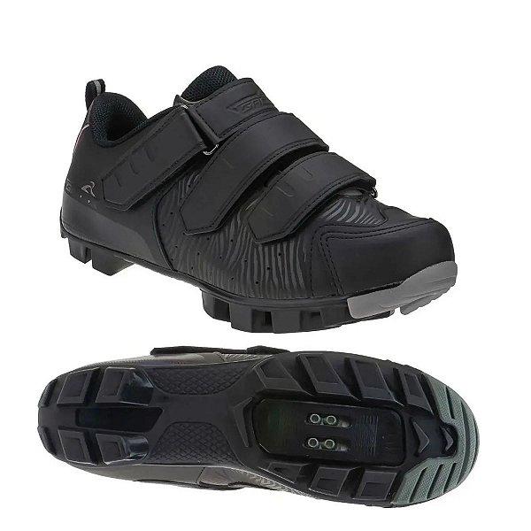 Sapatilha Grool MTB Cool 3 Velcros Preto Tam 41
