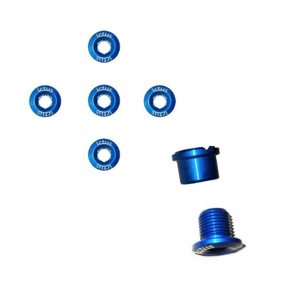 Parafuso de Coroa Ictus Kit com 5 parafusos Azul