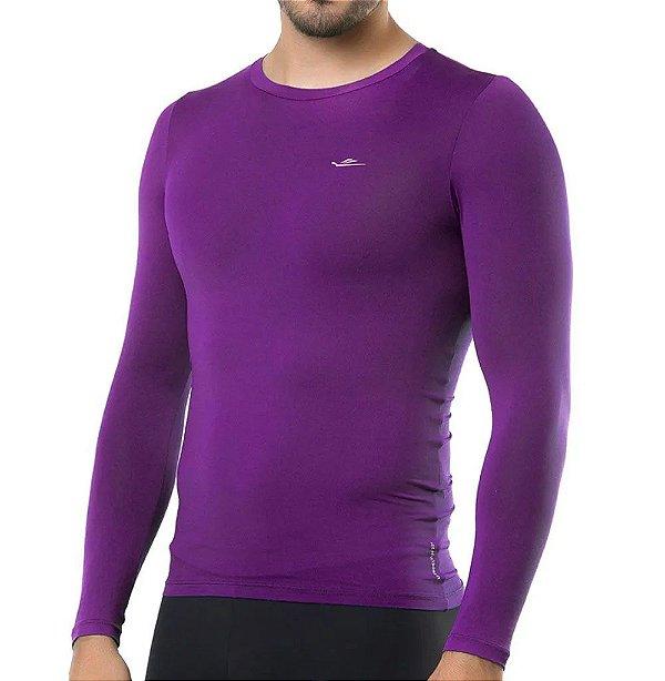 Camiseta Termica Elite Segunda Pele Slim Fit Uva Tam G