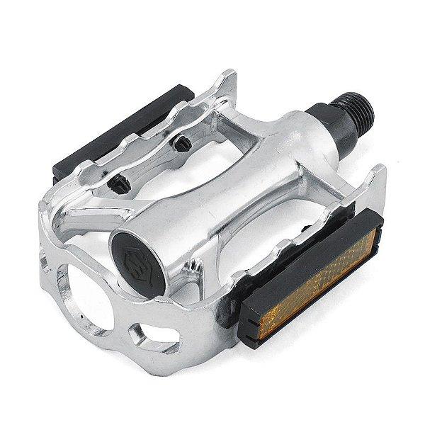 Pedal Aluminio  Rosca Fina  1/2 Polido