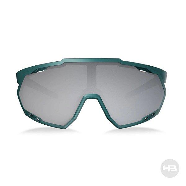Óculos De Sol Hb Spin Gradient Dark Green Lente Prateada