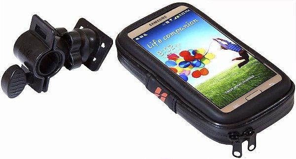 Bolsa Estojo para celular High One Com fixação no guidão para Galaxy S5/S6