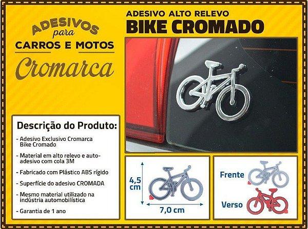 Adesivo para Carro Cromarca Bike Cromado