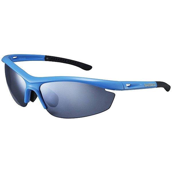 Óculos Esportivo de Sol Shimano S20R Armação Azul claro Preto com 2 lentes