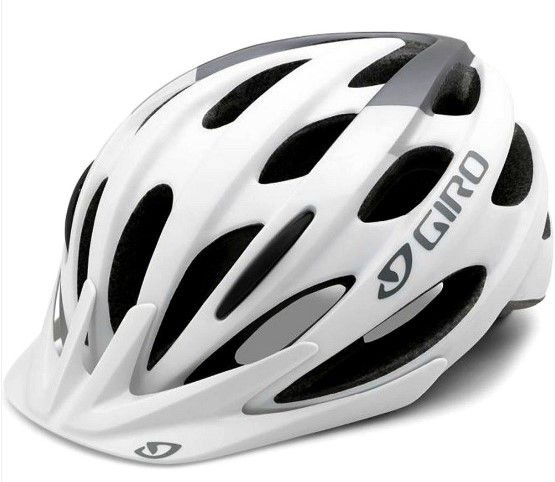 Capacete Giro Revel de Ciclismo MTB Lazer Branco Prata