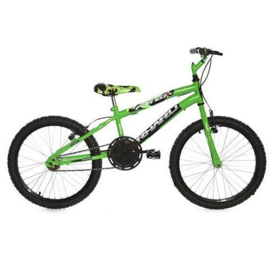 Bicicleta Infantil Rharu Aro 20 Roda Aluminio sem Marcha Verde Preta