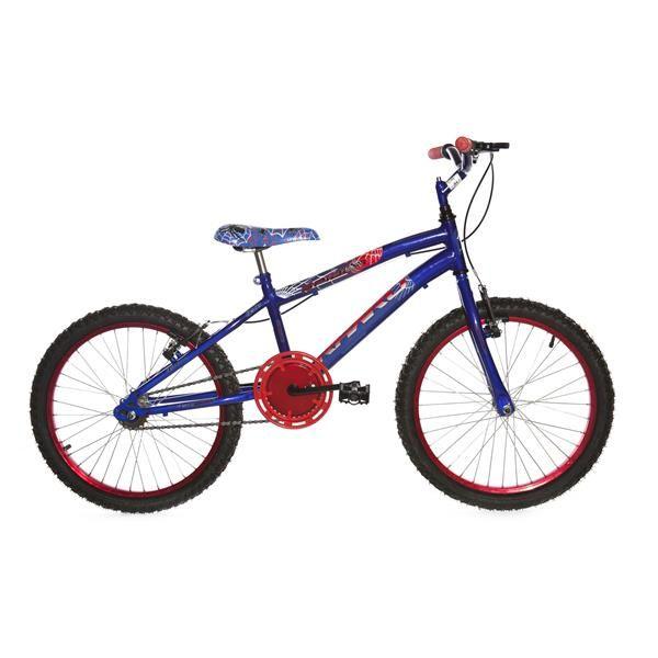 Bicicleta Infantil Rharu Aro 20 Roda Aluminio sem Marcha Azul Vermelho
