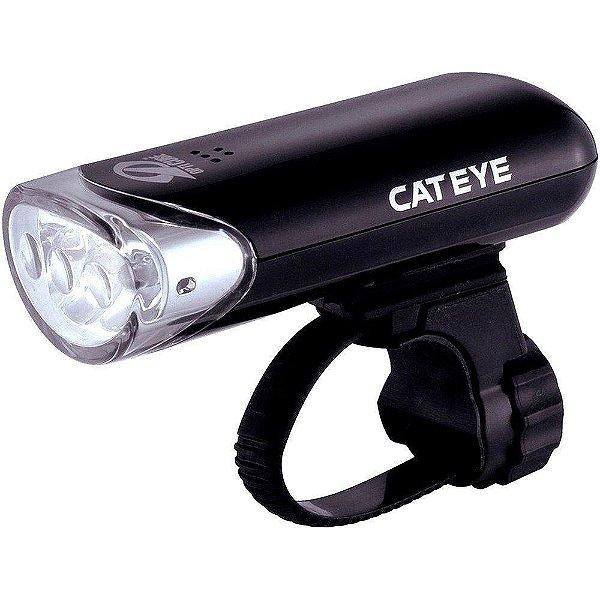 Farol Dianteiro Cateye HL-EL135 com 3 Leds Luz Branca Preto