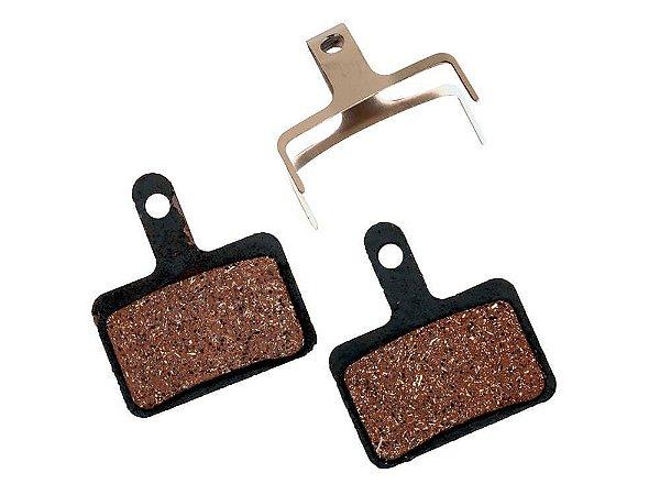 Pastilha de Freio a Disco Baradine DS10 Semi-Metalica para Freios Shimano M445 Base de Aço