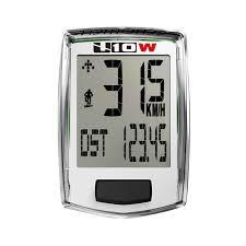 Ciclocomputador Echowell U 10W Sem Fio de 10 Funçoes Para Bicicletas Speed / MTB Branco