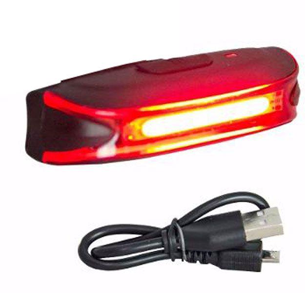 Lanterna Traseira Absolute JY 6018T Recarregavel USB Braçadeira de Borracha