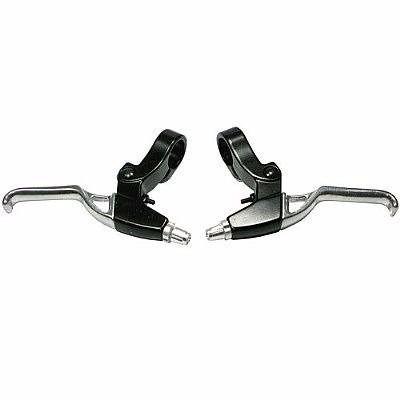 Manetes de Freio V-Brake Logan Aluminio Preto e Polido (Par)