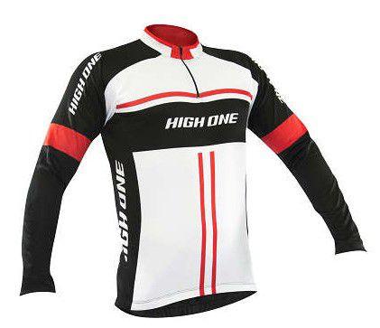 Camisa Refactor High One de Ciclismo Masculina Manga Longa Preto Branco