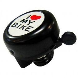 Campainha Sininho I Love Bike Preto