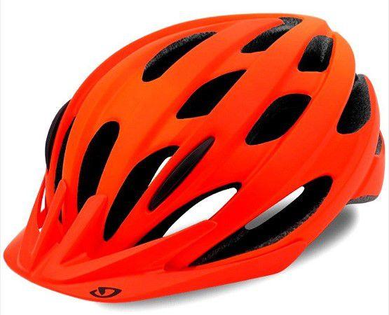 Capacete Giro Revel de Ciclismo MTB Lazer Vermelho / Laranja Fosco