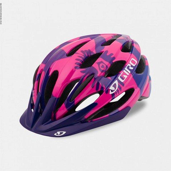Capacete Giro Raze de Ciclismo MTB Lazer Roxo Rosa Flowers