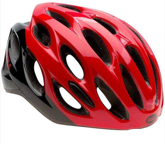 Capacete Bell Draft de Ciclismo Mtb Lazer Urbano Tamanho Único 54-61cm Vermelhor Preto