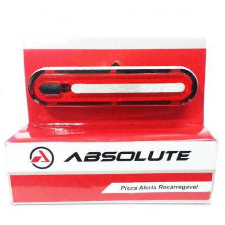 Lanterna Traseira Absolute JY-6085T Recarregavel USB Braçadeira de Borracha