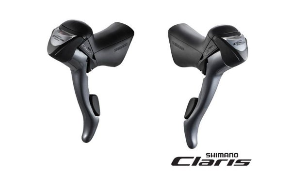 Alavanca STI Shimano Claris ST2400-L de Câmbio e Freio Integrada Speed Road 2x8 vel