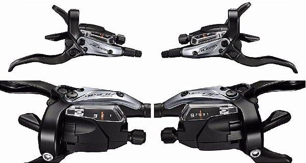 Freio a Disco Hidráulico Shimano Acera MTB BR-M3050 Câmbio e Freio Integrado Dianteiro/Traseiro (Par)