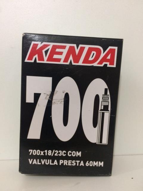 Câmara de Ar kenda 700x18/23c com Válvula Presta F/V 60mm