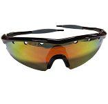 Óculos Esportivo de Sol High One Fusion Espelhado Armação Preto Cinza com 3 Lentes