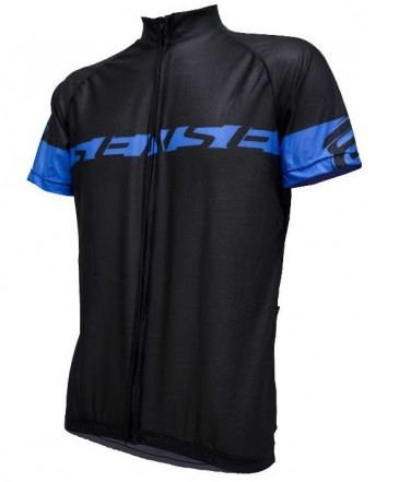 Camisa ASW Sense Fun de Ciclismo Masculina Manga Curta Preto Azul